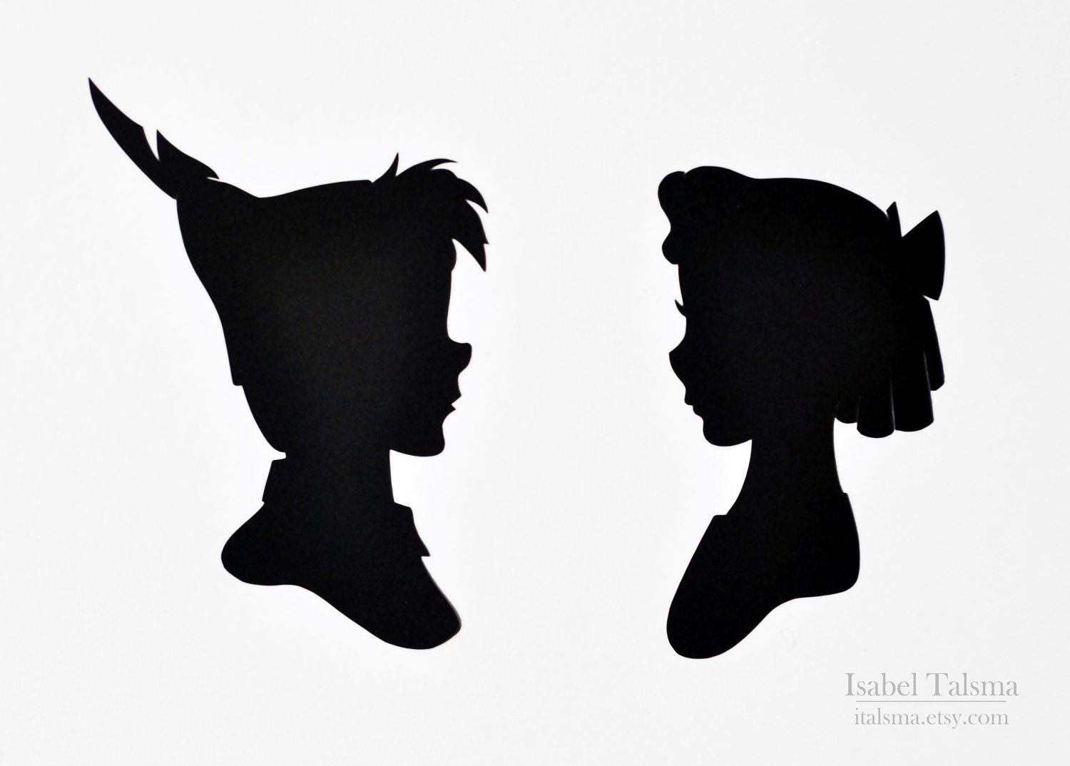 Mary Poppins Flying Silhouette Vector