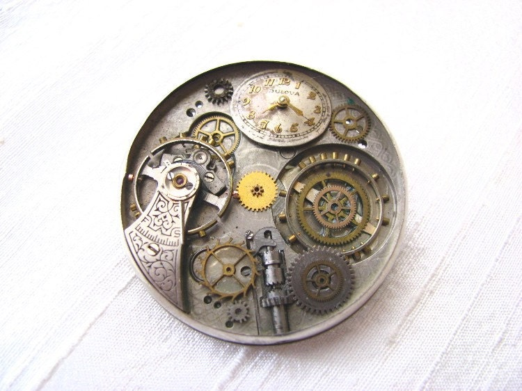 Watchgear brooch