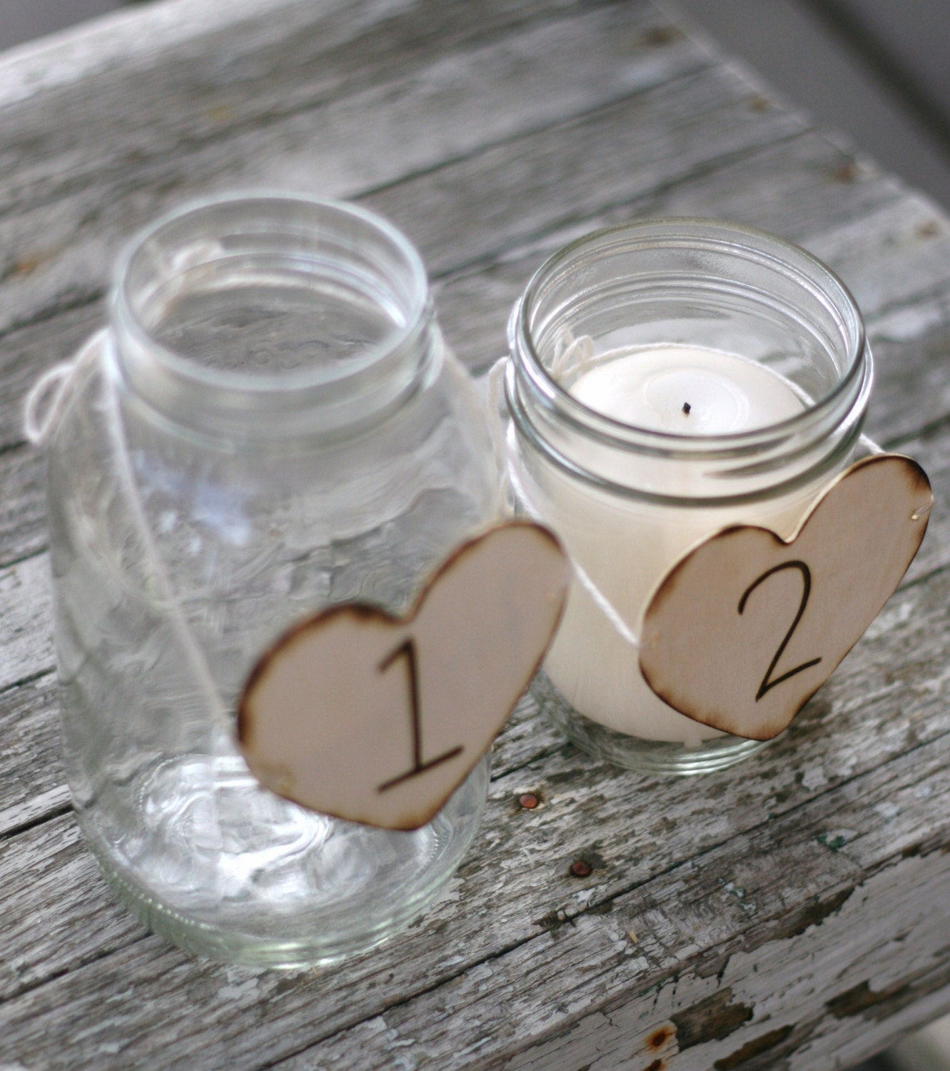 20 Wedding Centerpiece Table Number Charms Engraved Wood Hearts Rustic Woodland Cinderella Renaissance Fairytale