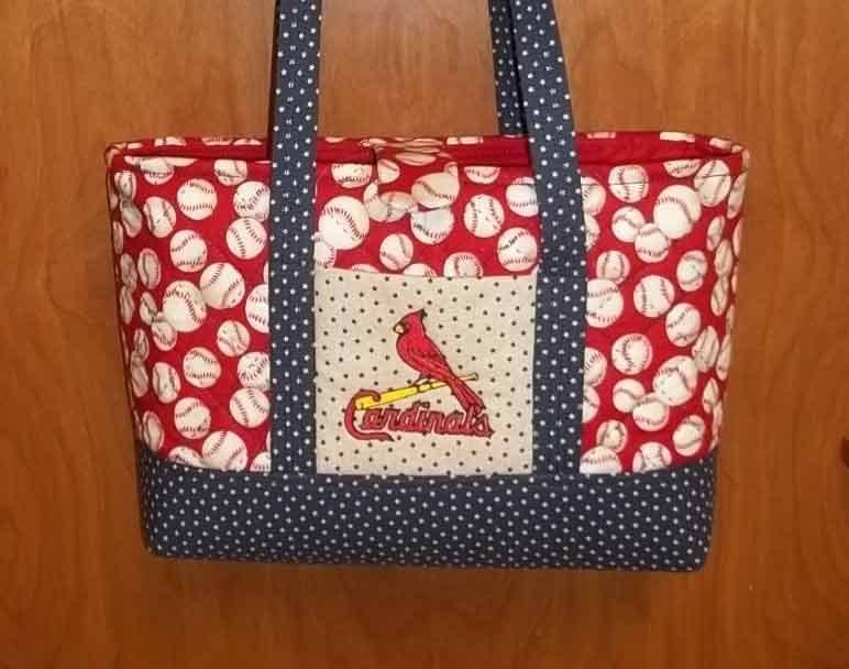 Large St. Louis Cardinal Purse/Bag - SewingbyEmma