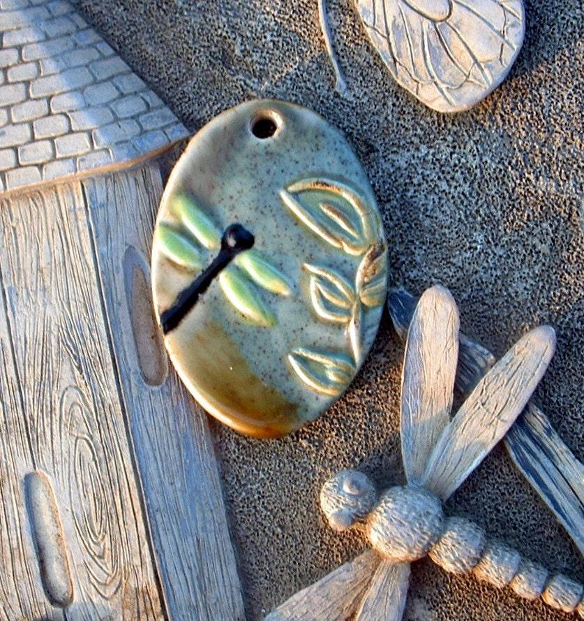 Ceramic Dragonfly Pendant