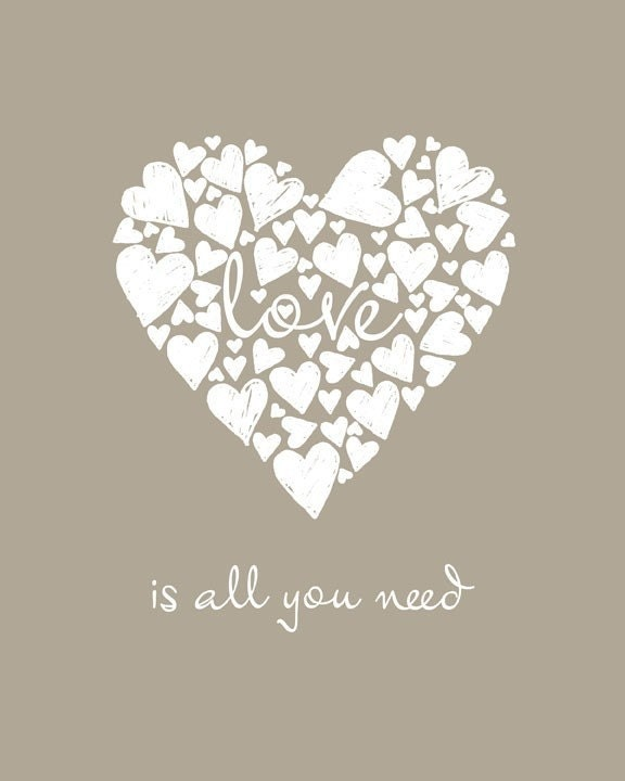 Love is All You Need (Mouse) - 8 x 10 Print