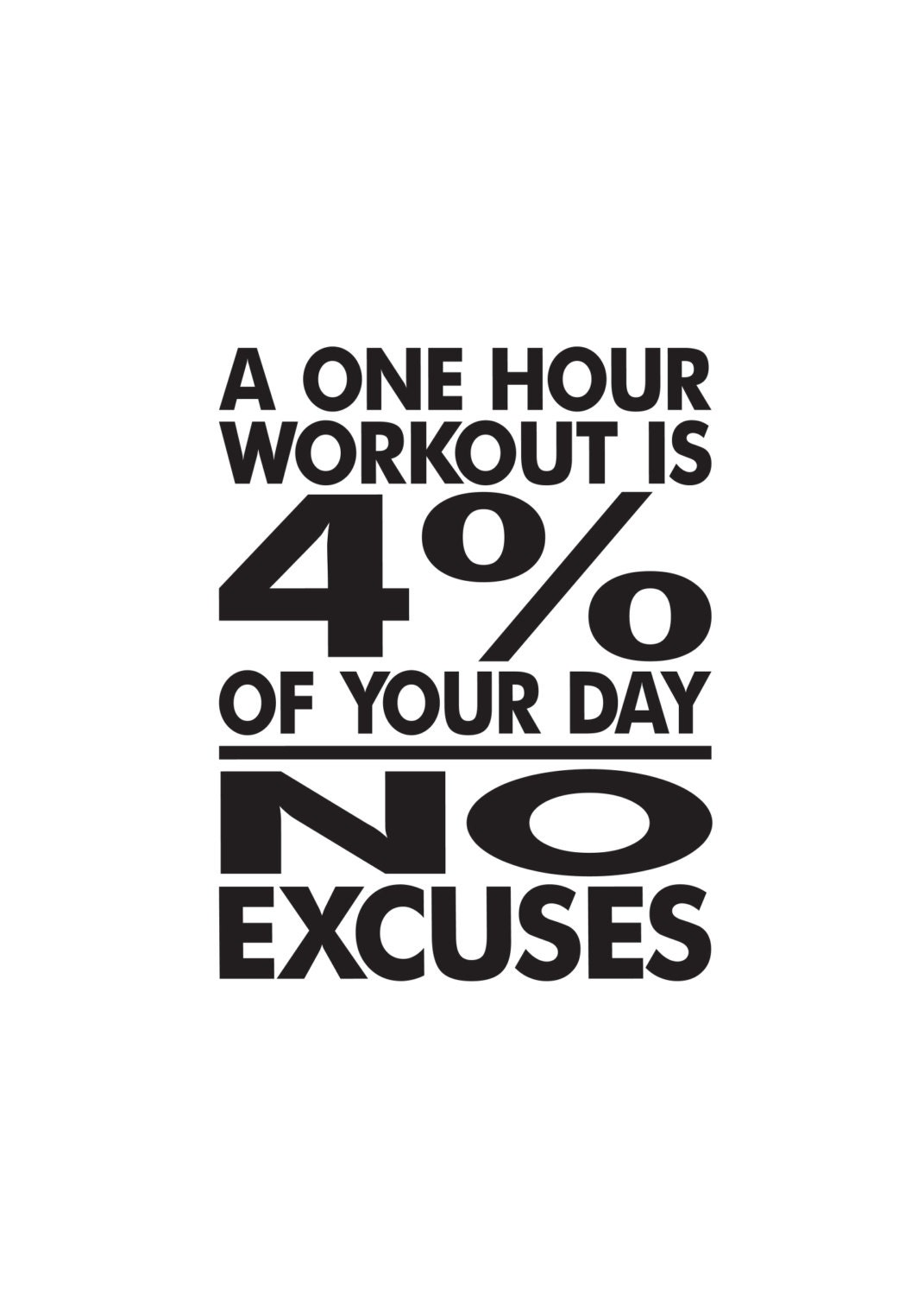 No Excuses Workout Room Wall Vinyl Weight Room By