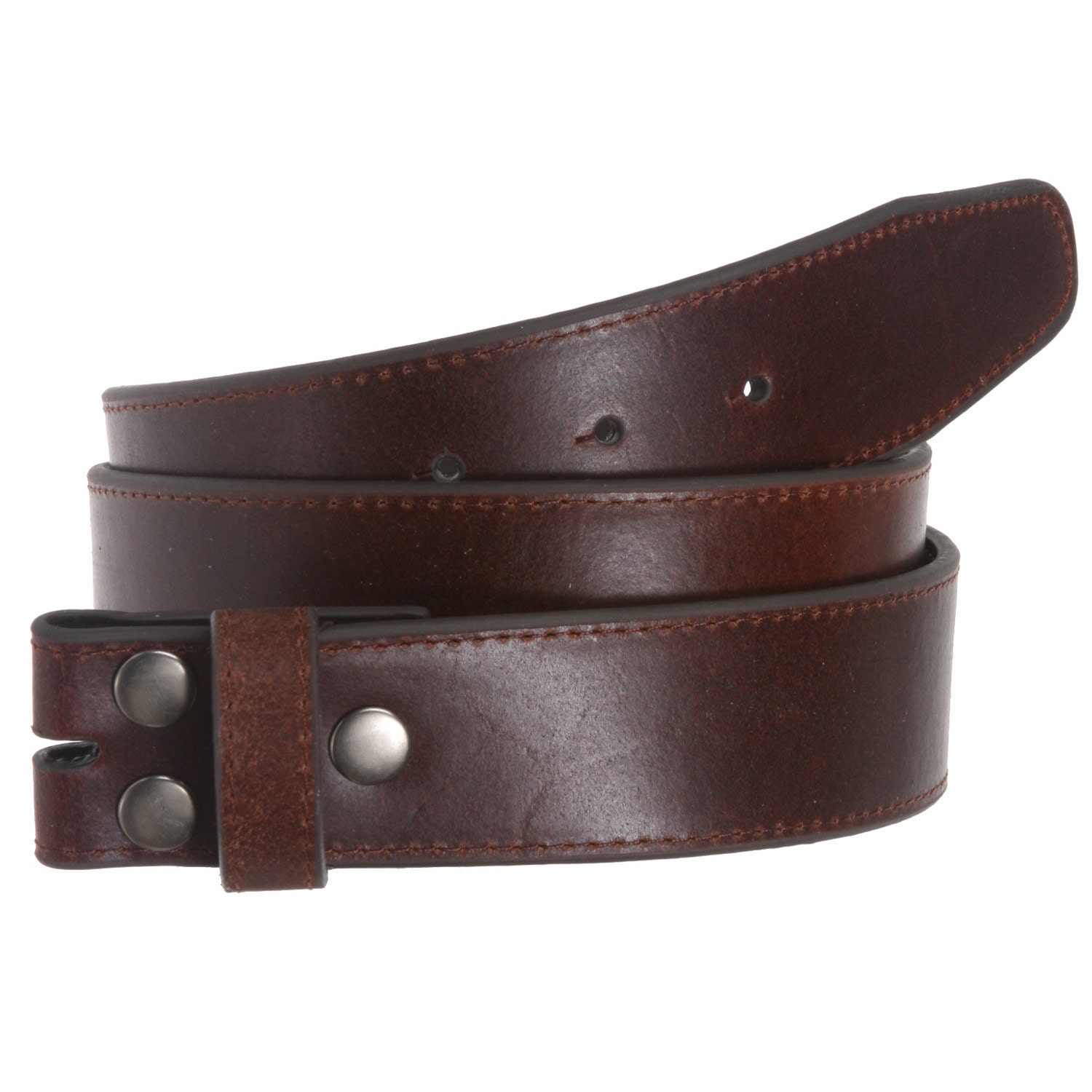 brown leather belt snap on by angelgrace