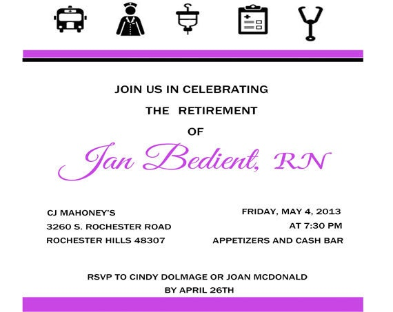 Invitation Retirement Party is good invitation ideas