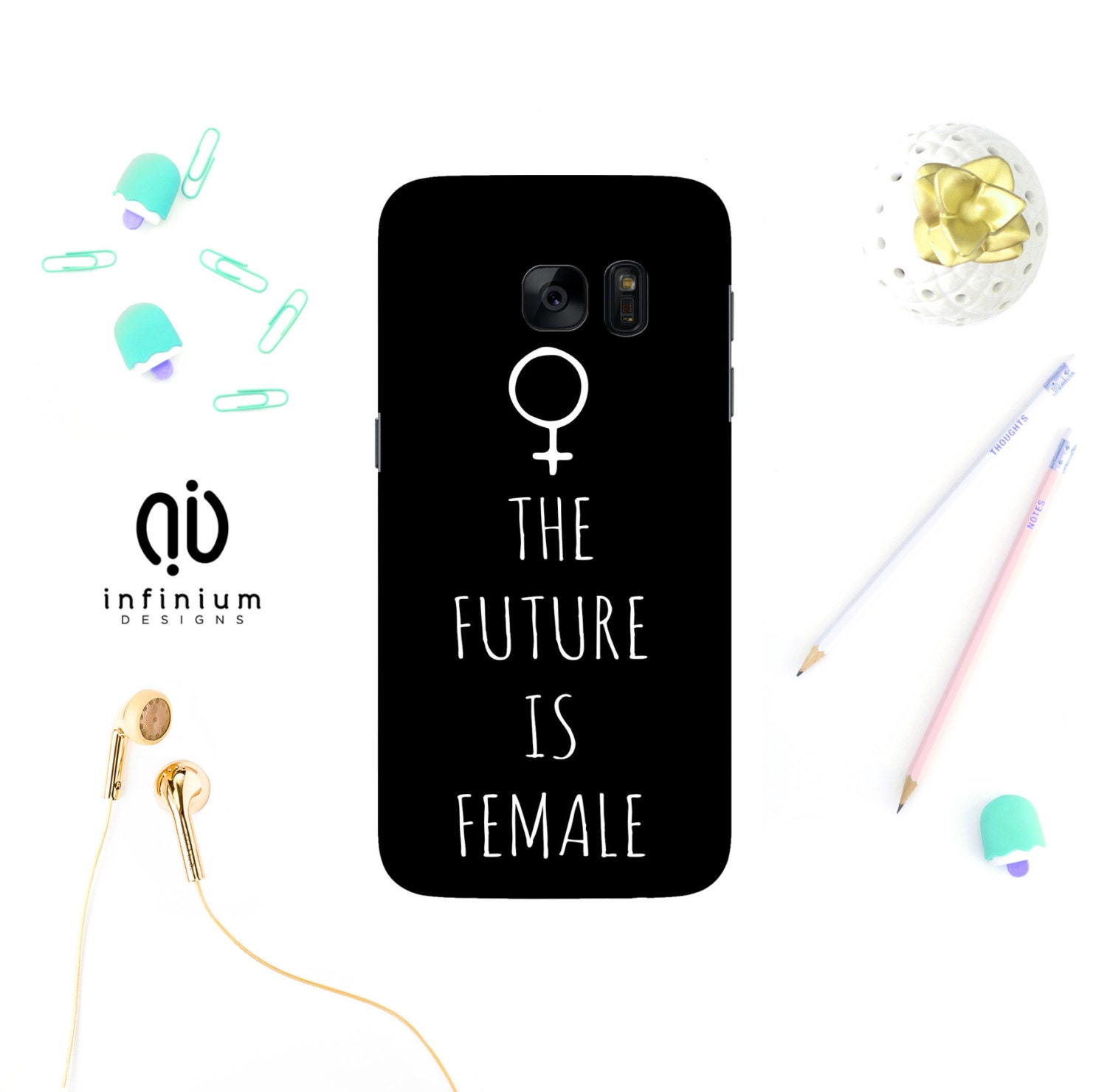 The Future Is Female Case For Samsung S8 Edge iPhone 7 7 Plus 6S 6 Plus SE 5S Samsung S8 S7 S7 Edge Galaxy A3 Galaxy J3 A5  A5