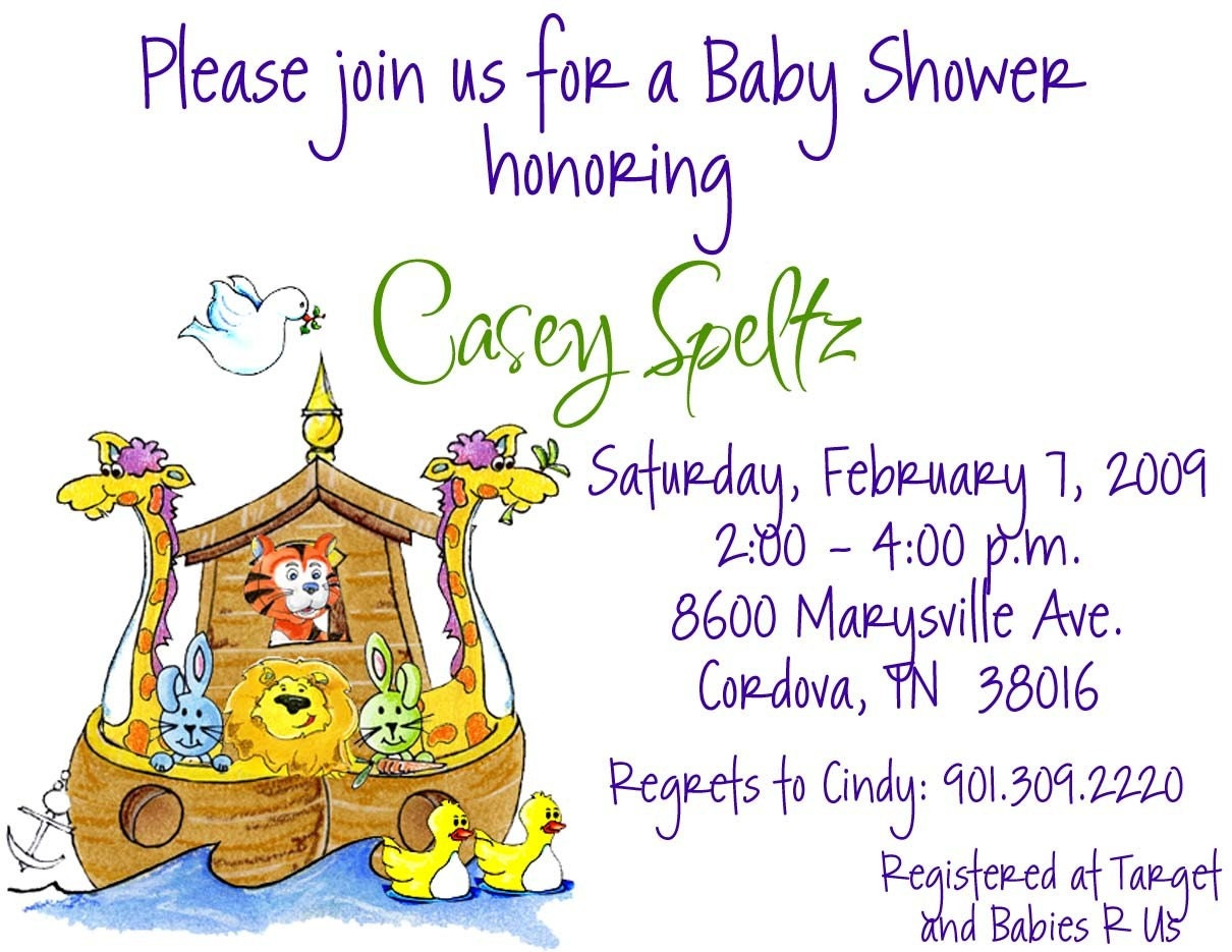 10 noah 39 s ark baby shower invitations or printable diy u print