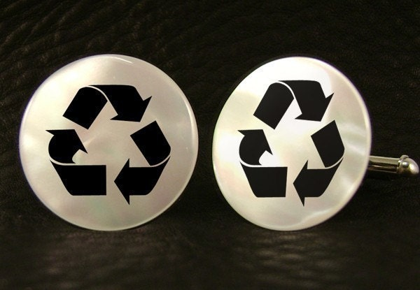 Mother of Pearl Recycle Cufflinks - A