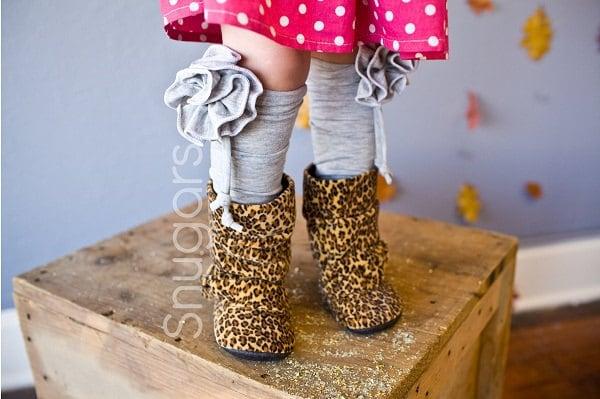 Гвоздика вязаные гамаши гетры Snugars зима ребенок младенец новорожденный малыш девочек