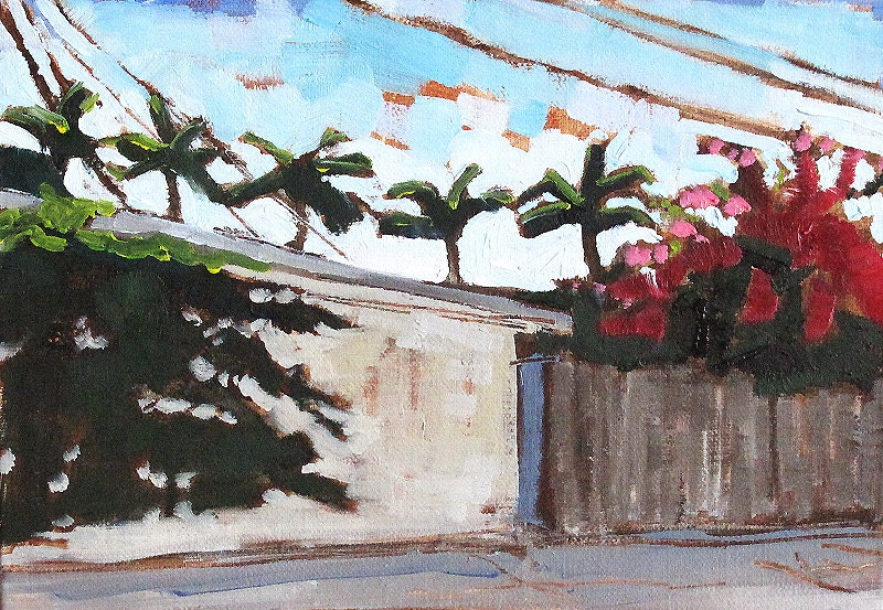 San Diego Painting- Bougainvillea in North Park