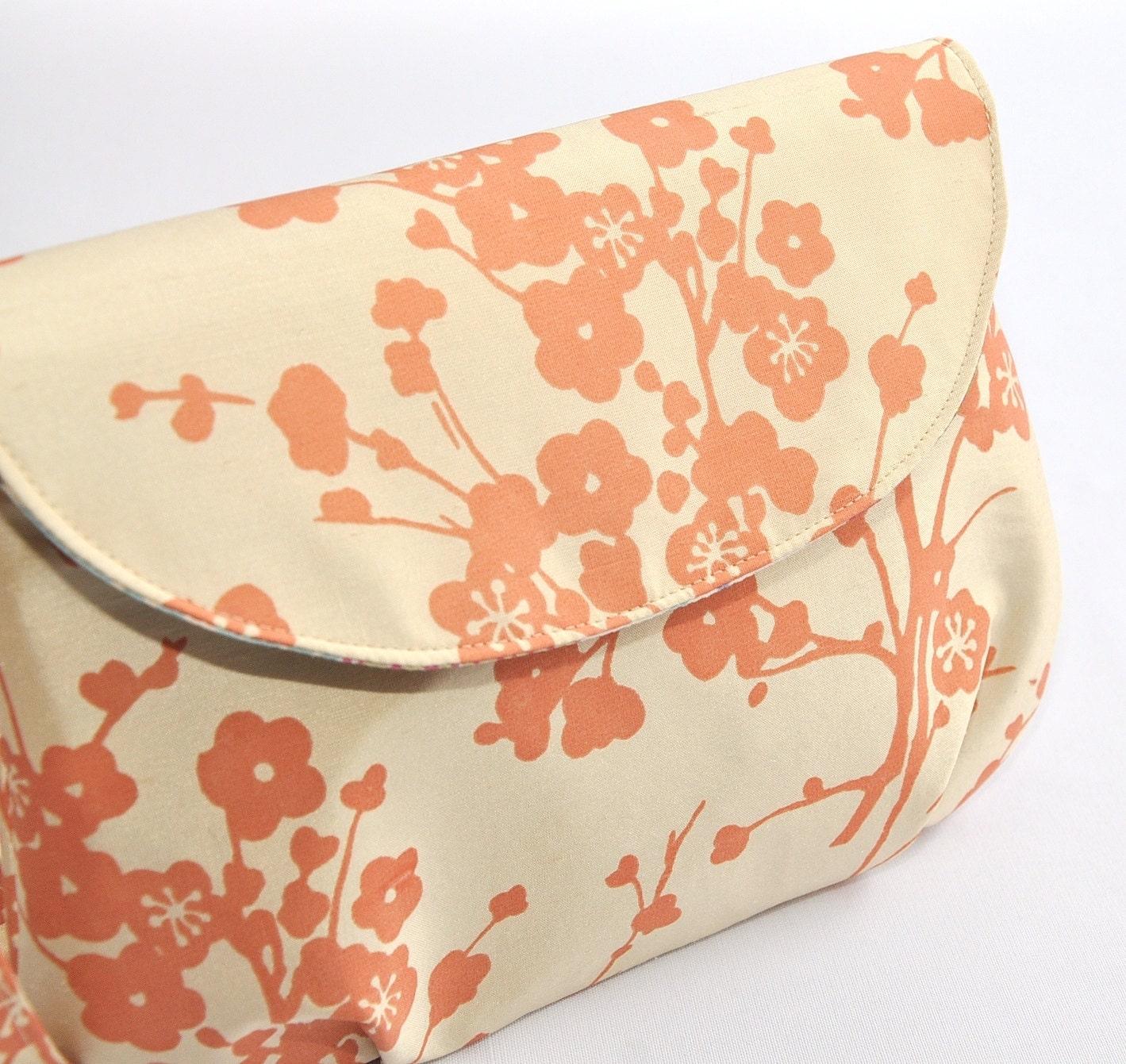 WOMEN'S CLUTCH /// Silk Cherry Blossoms Addy Wristlet - PeteandPaul