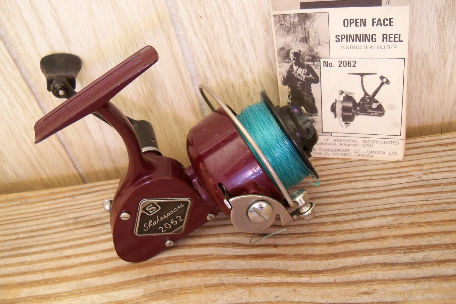 Vintage fishing reel shakespeare open face by for Open face fishing reel