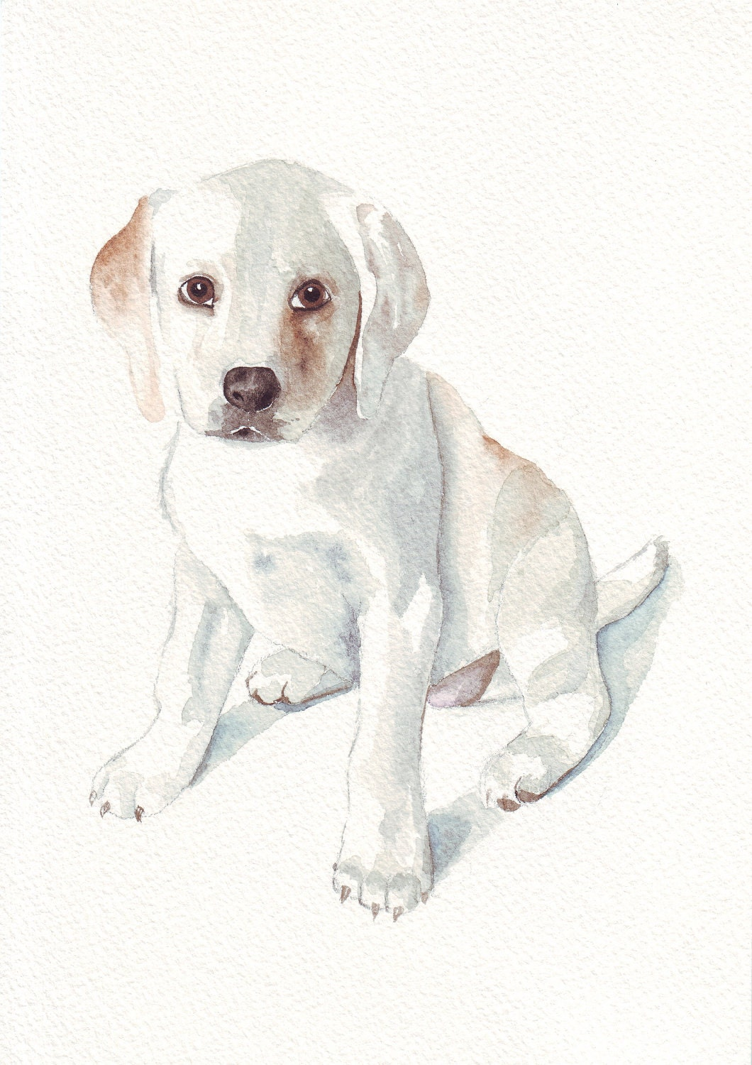 Custom Pet Portrait watercolor original painting OOAK