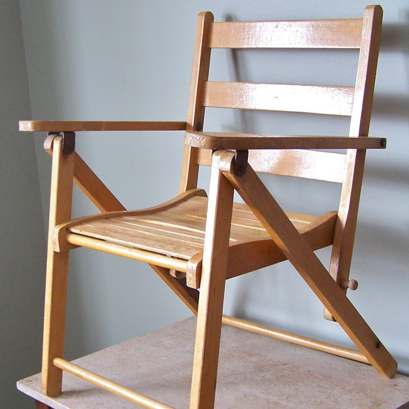 Vintage child folding chair for the beach, picnics, etc.