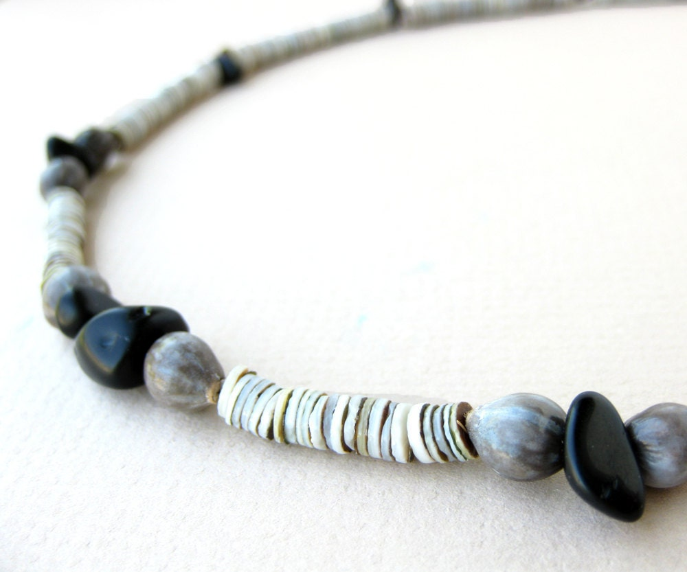 shell necklace for mens surfer necklace by authenticstone