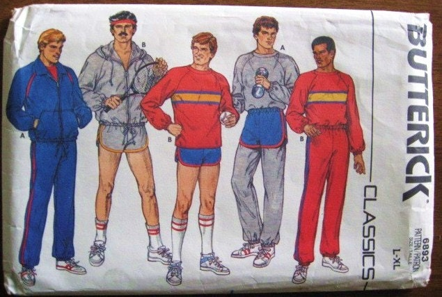 Retro 1980s Men S Sports Or Workout Wardrobe Jacket By