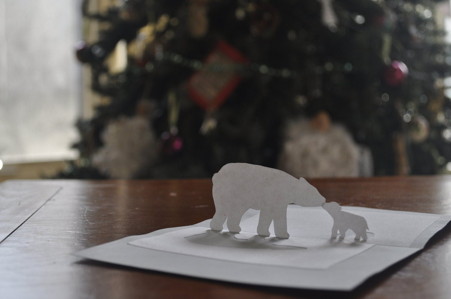 Charming Polar Bear Pop-up Card