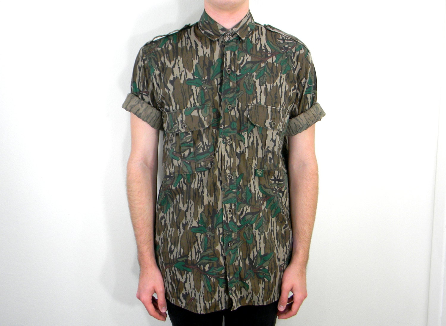 Old School Camo 80s Vintage Men 39 S Button Up By