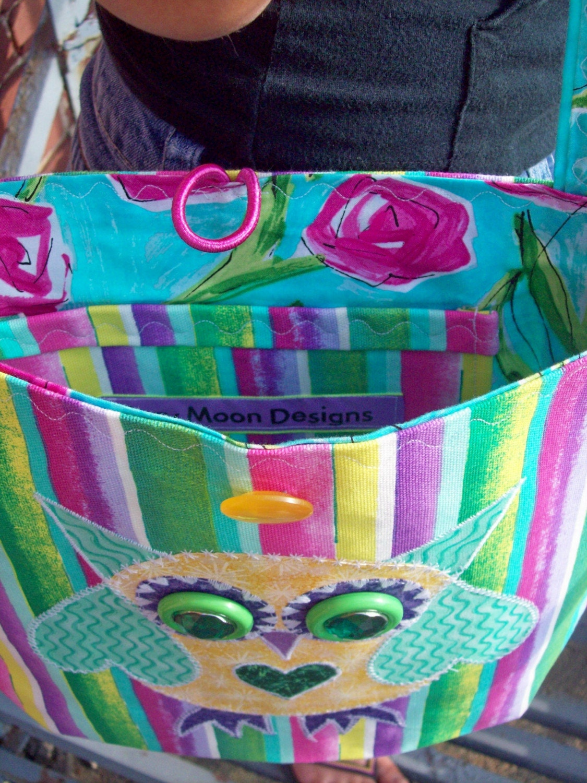 Stripped Owlie Bag has Heart