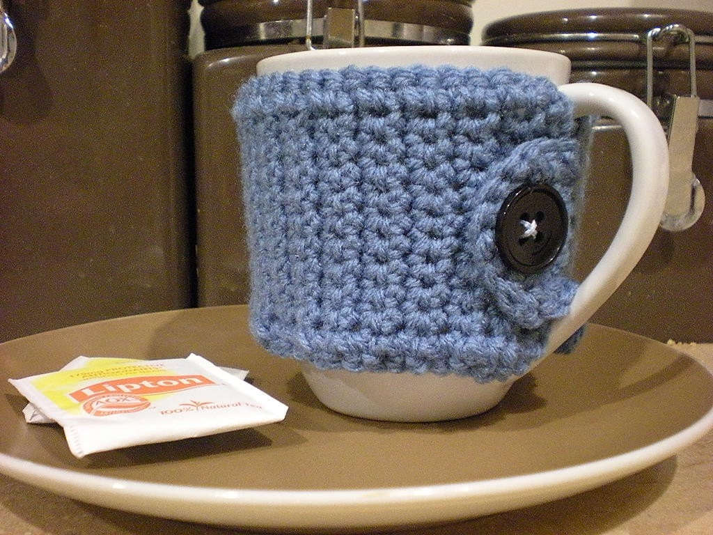 Cup Cozy Pattern - Knitting Patterns and Crochet Patterns from