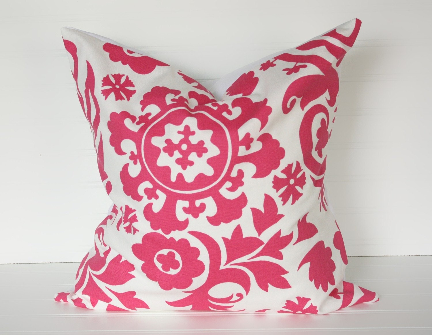 18x18 Hot Pink Bold Pillow Cover