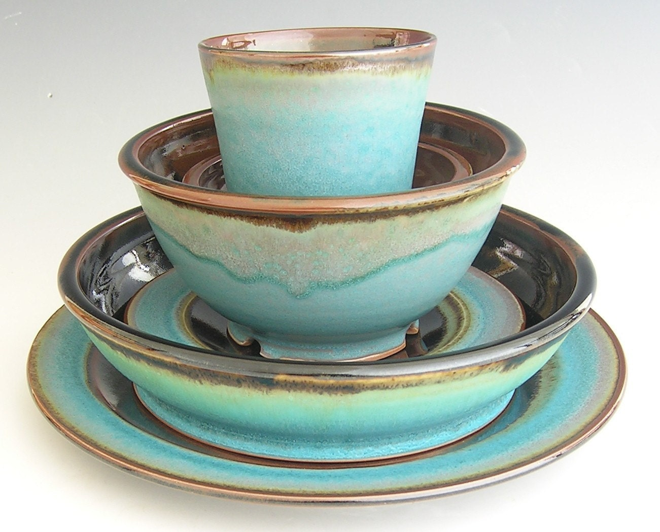 Made to Order... Dinner Sets in Brown and Blue