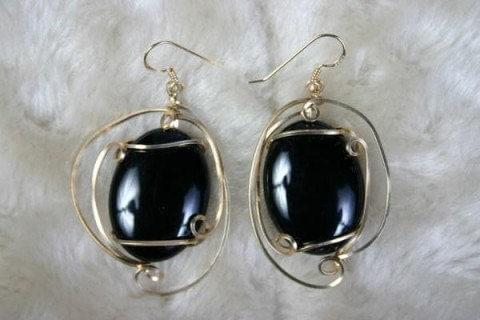 Earrings Black Sass Black Onyx
