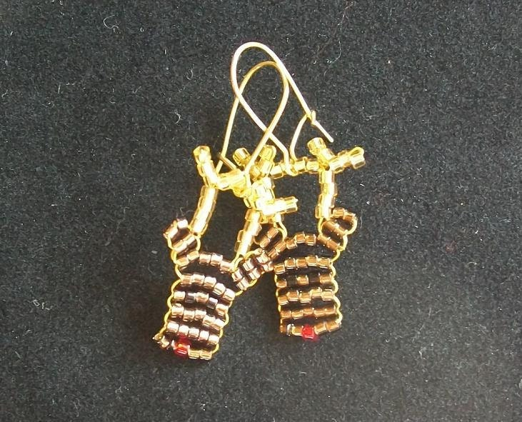 Beaded Christmas Reindeer Earrings