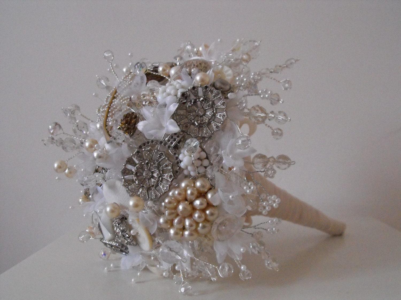 Amelia Sparkling Hand Tied Heirloom Wedding Bouquet