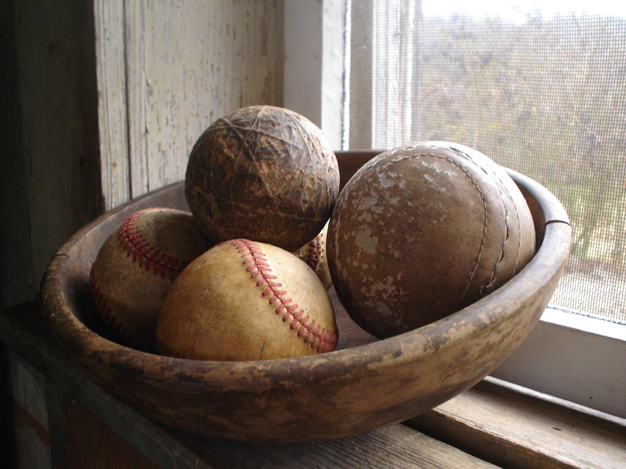 Antinque and Vintage Sport Ball Collection