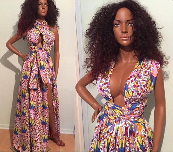 VARIABLE African Dress Cotton Maxi DressMulticolour dressNigerian Wax print dressAnkara Dress for African Ladies SMLXL2XL plus size