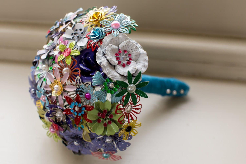 Button Bridal Bouquet Etsy : Enamel brooch bridal bouquet by pumpkinandpye on etsy