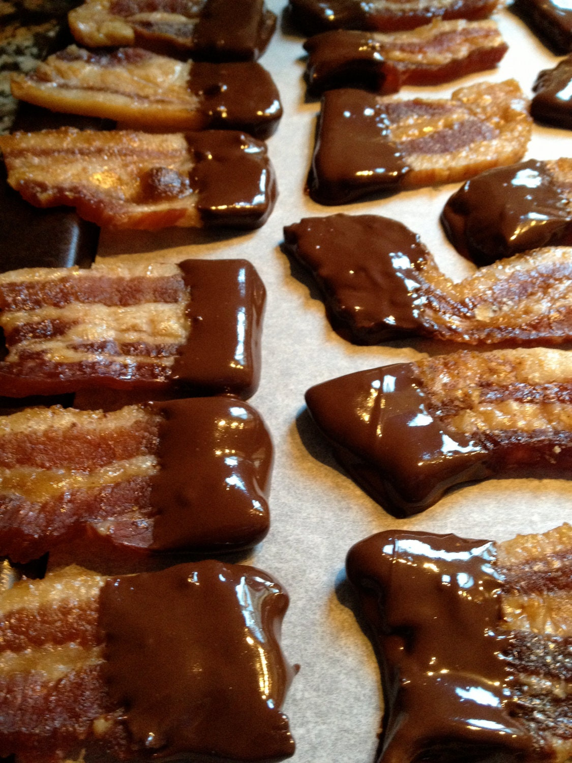 Beastly Dark Chocolate Dipped Bacon - Large Bag - BeastlyBeefJerky