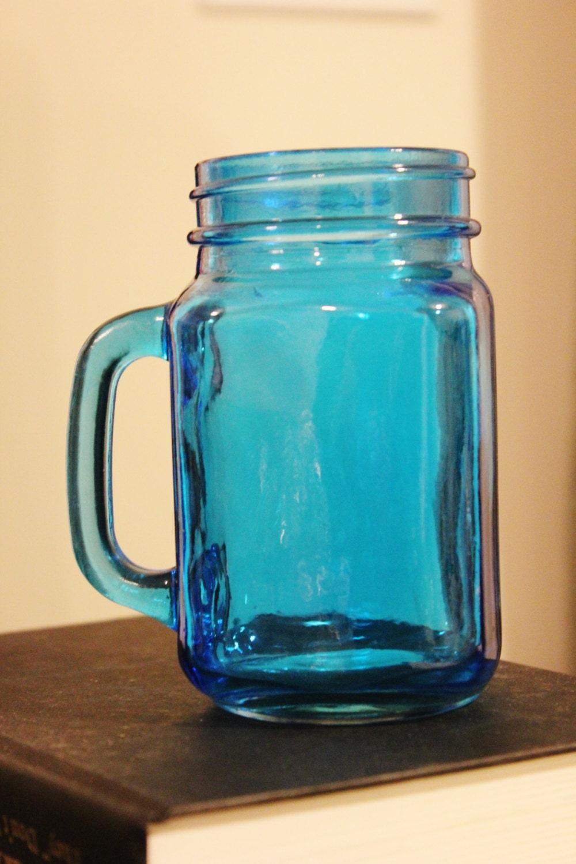 Aqua Colored Drinking Glasses