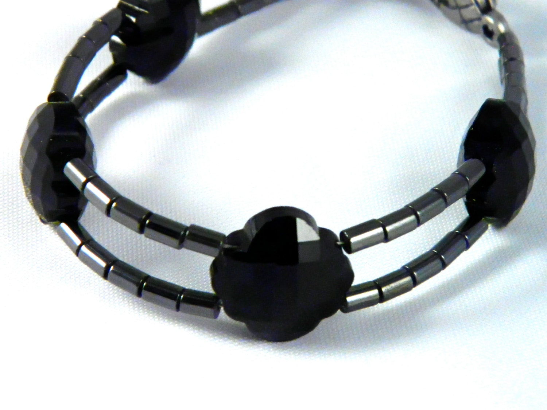 Hematite & Black Madelyn Bracelet - UnnamedRoad