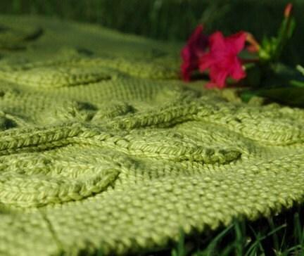 Passap tuckerboard tuck stitch reversible baby blanket