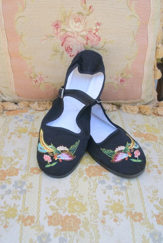 Chinese Mary Jane Cloth Shoes By Greencanyontradingco On Etsy