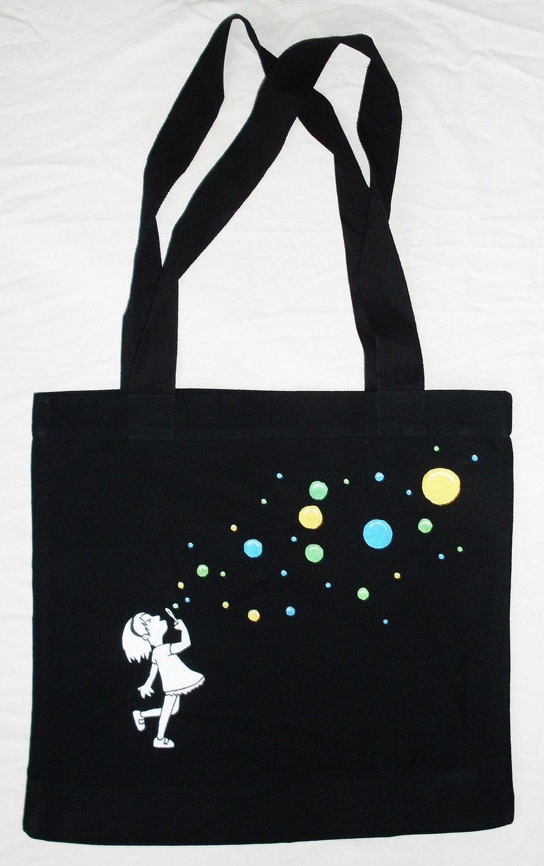 Bubbles - HAND PAINTED Bag