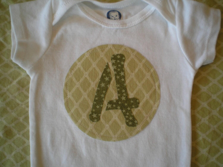 Custom Initial Personalized baby onesie