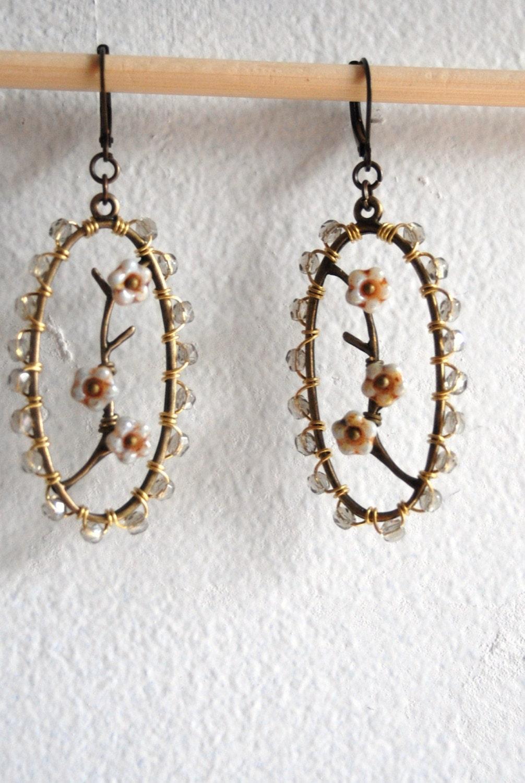 Dogwood in bloom earrings