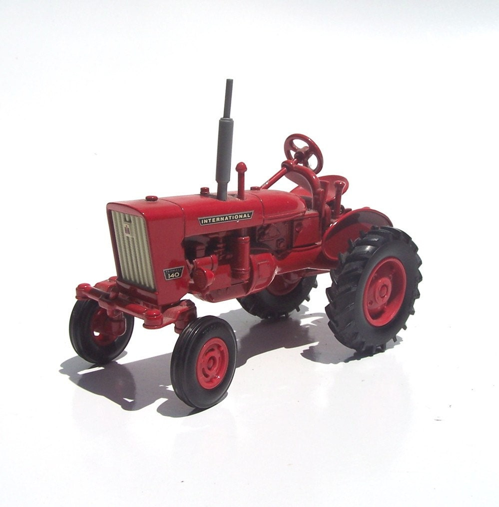 Vintage Red International Metal Farm Tractor