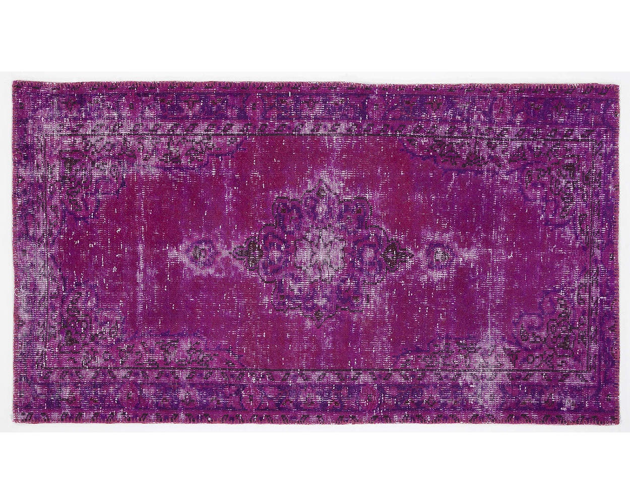 6,1x3,4 ft   187X105 cm   Vintage PURPLE handmade faded-distressed overdyed rug Free shipping (3075) - Apexcarpets
