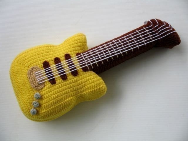 Crochet Pattern - ELECTRIC GUITAR- Toys - PDF