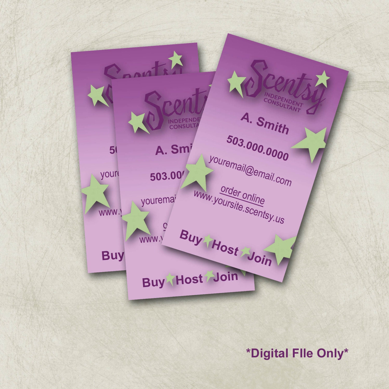 Items similar to Scentsy Business Card Design on Etsy