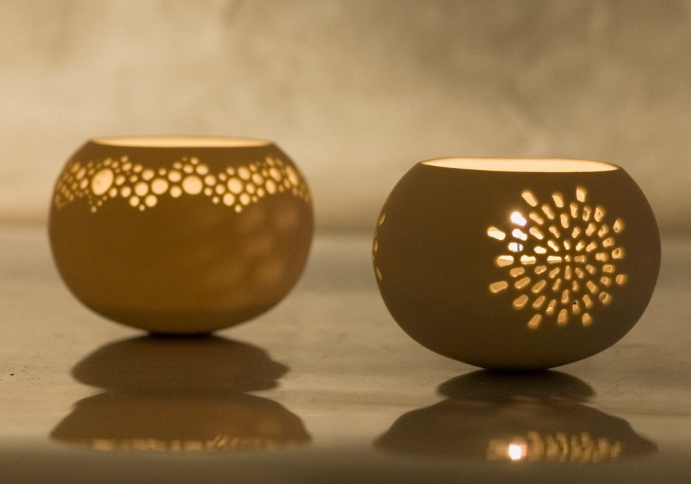 Porcelain Tea light Delight N.3. Design by Wapa Studio.