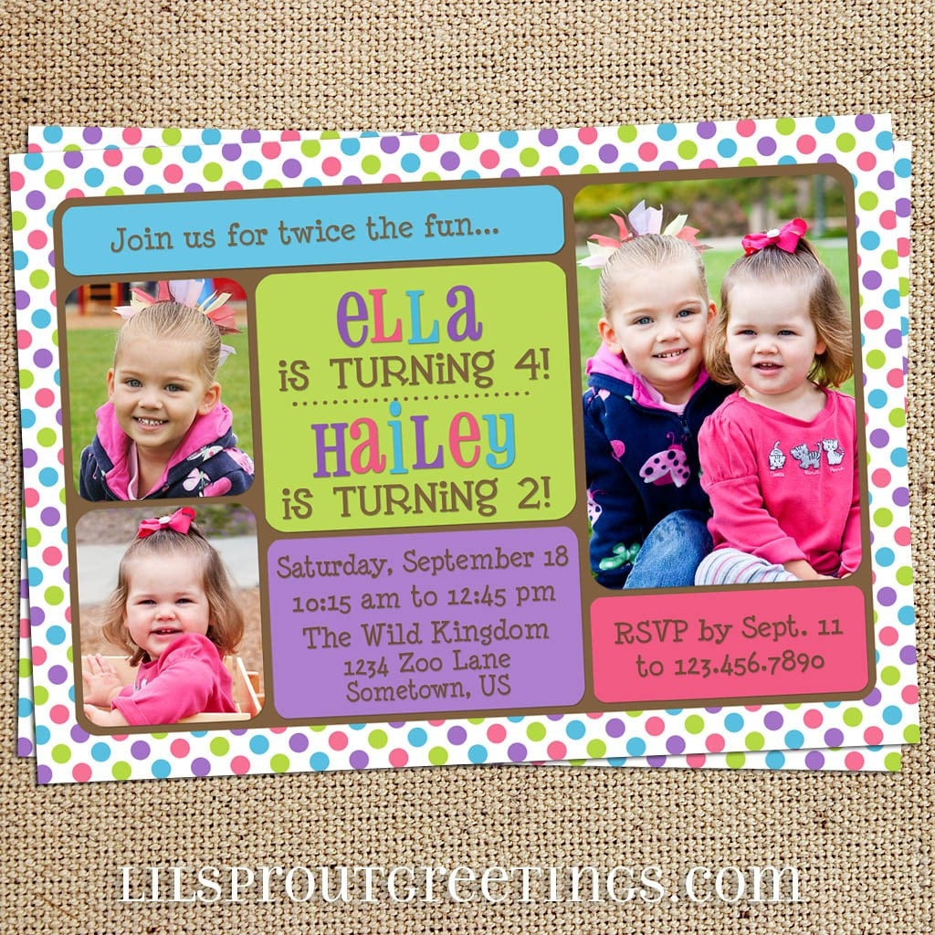 40th Birthday Ideas Free Joint Birthday Invitation Templates