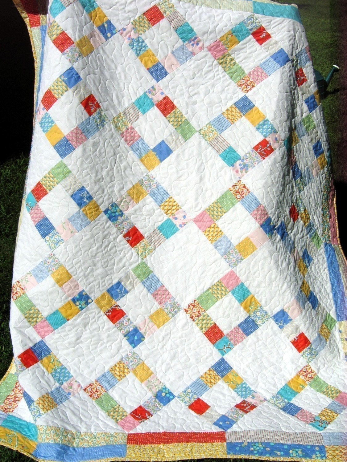 Easy Quilt Patterns With Layer Cakes : QUILT PATTERN Layer Cake or Fat Quarters Easy modern eBay