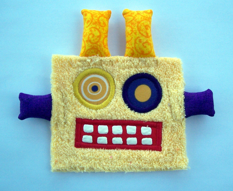 Mellow Yellow Robot Patch
