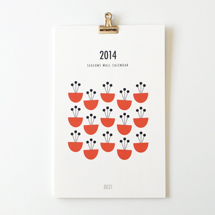 2014 wall calendar - seasons - dozi