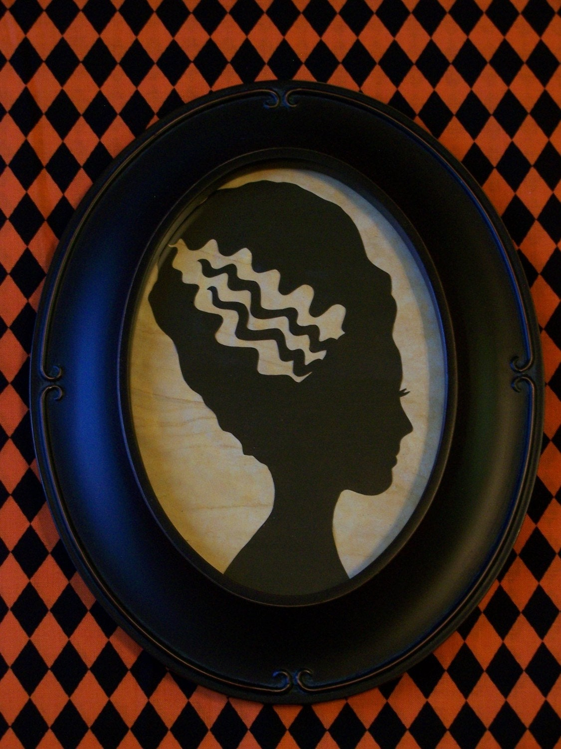 Bride of Frankenstein Primitive Framed Silhouette
